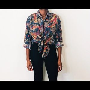 Tops - Ropes & Roses Vintage Blouse